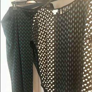 Pointy two piece  pants and blouse XL regular 14